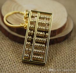 Wholesale File Key - 8 file abacus golden Abacus Bead arithmetics Metal Keychain Aotomotive Keyring Ring Key Fob Holder free ship 01731