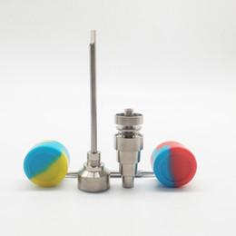 bohren führen Rabatt Glasbong Tool Kit 10 14 18mm männlich und weiblich GR2 6in1 Titan Nagel Werkzeug mit Dabber und Carb Kappe Slicone Glas für Glasbongs Ölplattformen