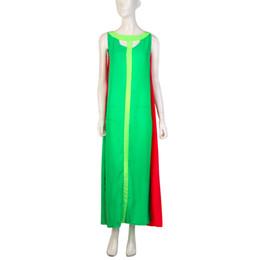 Wholesale Swing E - Wholesale-signore cuciture moda europea e americana era sottile abito senza maniche grande swing vestito
