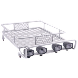 Wholesale Luggage Racks For Cars - RC AX-514 White Metal Roof Luggage Rack For Axial Wrangler SCX10 Tamiya CC01