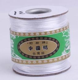 Белая нейлоновая нить онлайн-Оптовая 160M / 170yards / lot balck красный белый многоцветный китайский узел строка нейлон шнур веревки для Shamballa браслет DIY