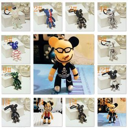 Wholesale Lovely Bear Stainless Steel - 21 Colors Japanese anime key chain Gloomy keychain top quality women hand bag key chain lovely bear key ring assorted