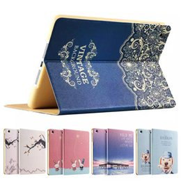 Wholesale Ipad Vintage - For iPad air 2 air2 6 Mini 4 3 2 1 Lovely Vintage Wake UP Flip Stand Smart Leather Case Cover