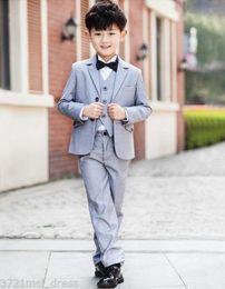 Wholesale Peak Model - 2018 Boys Groomsman Suits Boys Party Suits Tuxedos Children Suits Kids Tailcoats 3 pieces (jacket + pants + vest) custom made