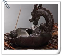 Wholesale Buddhist Supplies - 2016 New Creative incense smoke will back back burner China dragon logo Buddhist supplies