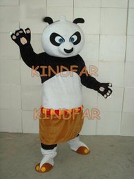 Wholesale Kung Fu Panda Outfit - Wholesale-KUNG FU PANDA Mascot Costume Adult Halloween Fancy Dress Cartoon Party Outfits Suit Free Shipping