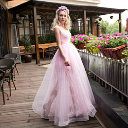 Wholesale Evening Skirt Shipping - Free Shipping!Formal Evening Dresses Vestido De Noiva Special Occasions High Low Skirt Tulle Lace Pink Prom Gowns