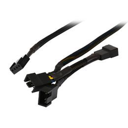 Vente en gros - Black Net Jacket Sleeved 16 pouces (8 + 4 + 4) 1 à 3 4 broches Molex boîtier de processeur 4 broches PWM Ventilateur de refroidissement Splitter Hub Câble adaptateur secteur Cordon ? partir de fabricateur