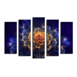 Wholesale Print Frame Digital Photos - Abstraction Flower Canvas Painting Pictures On The Wall Print Paintings Home Decor Canvas Wall Art Modular Photos No Frame