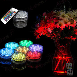 Wholesale Candle Wedding - LED Submersible Candle floral tea Light flashing Waterproof wedding party vase decoration lamp hookah shisha accessories