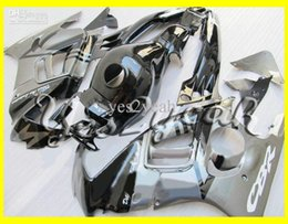 Wholesale 96 Cbr F3 Fairing Kits - Motorcycle Fairing kit for HONDA CBR600F3 95 96 CBR600 F3 1995 1996 CBR 600F3 Silver gloss black Fairings set