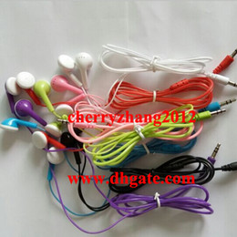 Wholesale Wired Handset - Good quality and cheap in ear Earphone earbud Mini Headphones earphones handset for mp3 mp4 player cellphone mobile phone 7 colors