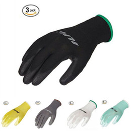 Wholesale Automotive Safety - Wholesale- ILM 3 Pack Safety Work Gloves Utility Nitrile Grip For Garden Electrician Automotive Breathable Protective Gloves From S To L