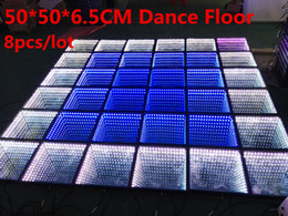 Wholesale Led Dance Floor Wedding - High Mirror Dance Floor Abyss Effect SMD 5050 RGB 3in1 Decoration Wedding DJ Disco Party LED Dance Floor With Flightcase