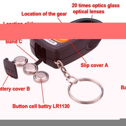 Wholesale Magnifying Repair Glasses - Wholesale-Different Price 20X 21mm LED Light Jewelry Magnifier Magnifying Eye Glass Loupe &Compass&Keyring Watch Repair Tool
