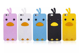 Wholesale Iphone4 Silicone Cover - High Quality Soft Silicone Cute Chicken Cartoon Cover Case, Phone Case For iPhone4 5 6 6 Plus
