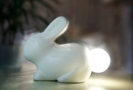 Wholesale Voice Sweets - 10pcs The new starting rabbit voice Nightlight Nightlight voice sweet money rabbit small wholesale without battery
