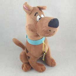 Wholesale Wholesale Scooby Doo - 35cm Soft Plush Cute Scooby Doo Dog Dolls Scooby Doo Dog Stuffed Toy Children Birthday Gift CCA7556 50pcs