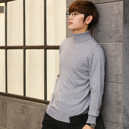 Wholesale Turtleneck Men Winter - Wholesale-Men Sweater Winter Cashmere Knitted Sweaters Warm Turtleneck Pullovers 2016 Hot Sale High Quaulity Standard Clothes Tops