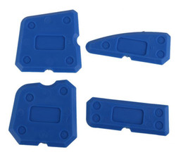 Wholesale Hand Crimp - Caulking Tool Kit Joint Sealant Silicone Grout Remover Scraper 4PCS Blue Hand Tools