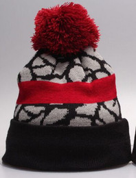 Wholesale Wholesale Pom Winter Hat - Wholesale 2017 Sideline Sport Knit Hat Team Winter Beanies Hats for Men Women Ski Snow Sports Pom Knit Beanies Caps