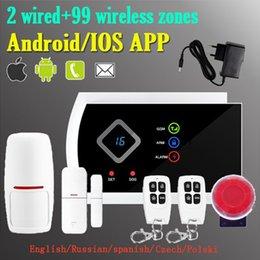 2019 alarme de zone à la maison Safearmed®NEW Home Security Écran LED G10A Système d'alarme SMS GSM sans fil Supporté App Control Appeler Modifier une zone alarme de zone à la maison pas cher