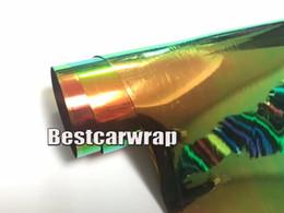 Wholesale Rainbow Cars - 2017 Rainbow Chrome Vinyl CAR Wrap With Air bubble Free Mirror Chrome flip flop For Car styling size:1.45x20m Roll 4.7x66ft