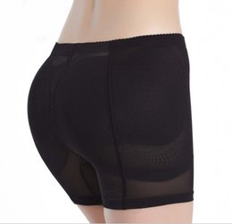 Wholesale Hip Shape Up - Wholesale-Sexy Hip Padded Panties Women Boyshorts Push Up Knicker Fake Hip Plump Buttocks Bum Butt Enhancer Body Shaping Sponge Underwear