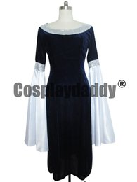 Wholesale Lord Rings Cosplay - THE LORD OF THE RINGS ARWEN BLUE DRESS cosplay COSTUME