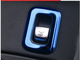 Wholesale Internal C - Stainless steel Car rear trunk switch button decoration cover trim interior molding for Mercedes Benz new C Class GLC styling