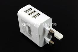 ВЕЛИКОБРИТАНИЯ Plug True 3A 3 Порта USB Power AC Зарядное Устройство Адаптер Путешествия для iphone IPAD ВОЗДУШНЫЙ МИНИ Samsung s4 s5 ПРИМЕЧАНИЕ 3 2 * 100 шт. / Лот cheap s4 mini uk от Поставщики s4 mini uk