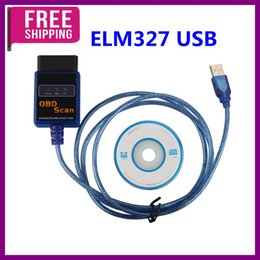 Wholesale Obdii Canbus - Top Quality ELM327 Plastic OBDII EOBD CANBUS Scanner V1.5 with 2102 Chip ELM327 USB Scanner