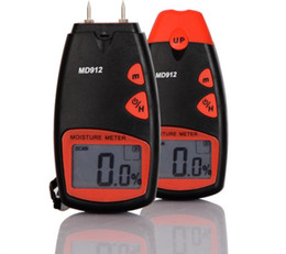 Wholesale Moisture Measuring - Electric Digital WOOD Moisture meter MD912,Wood Tree Timber Measuring Range: 2%~60%