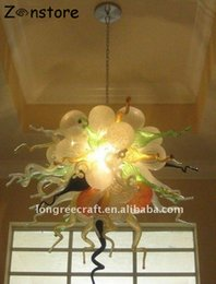 Wholesale Vintage Bubble Lamp - Vintage Amber Chandeliers Hand Blown Glass Bubbles Lamp LED Bulbs Living Room Chandelier and pendant lamps