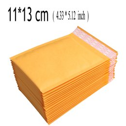 buon rilievo all'ingrosso Sconti Wholesale-11*13cm (4.33*5.12 inch) 100Pcs CRAFT Poly Padded Envelopes Mailing Bags Bulle Bubble Mailers Padded Envelopes Sobres Acolchados