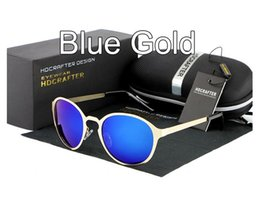 Wholesale Wayfarer Half Frame - 2016 Latest design Lovers Sunglasses Polarized brand Mercury coated anti reflection Stainless alloy frame outdoor Driving glasses Gift box