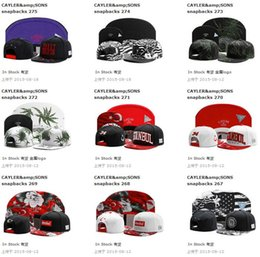 Wholesale Designer Womens Baseball Caps - New Designer Fashion Cayler & Sons Snapback Hats Adults Toronto Baseball Caps Hip Hop Cotton Adjustable Sun Hat For Mens & Womens