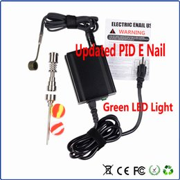 Wholesale Diy Led Light Box - E-nail box Kit New PID with green LED light Enail Dnail Electronic Temperature Controller For DIY Smoker E Nail Coil With titanium nail