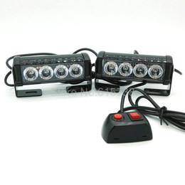 Wholesale Flashing Strobe Lights For Trucks - 4 Watt 12v Vehicle Mini Compact surface mount directional Strobe Light tail flashing lamp for vehicle truck car