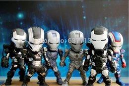 Wholesale Toys Mechine - Iron Man 3 Light & Action Figure War Mechine Iron Patriot Collectible Figure Toys 6pcs set 1206#06