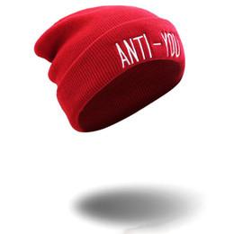 Vente chaude New Boy Girl Sport Skull Cap Broderie ANTI-YOU Beanie Hip Hop Chapeaux Accessoires de mode ? partir de fabricateur