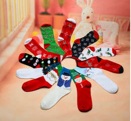 Wholesale Ms Stockings - Ms Christmas socks four seasons Christmas element lovely women socks knitting stockings Knitted Christmas Stockings free shipping CT13