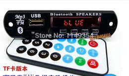 Wholesale Car Radio Decoder - Wholesale-Bluetooth MP3 WMA decoder board TF card 12V wireless audio module USB TF Radio for car