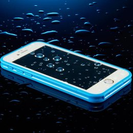 Wholesale Dust Proof Screen Touch - Waterproof TPU Rubber Case For iPhone 6 plus 6s plus full body Shock-proof Dust-proof Underwater Diving screen-Touch Cases Waterproof Cover