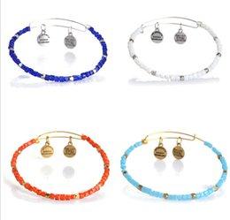 Wholesale Alex Ani Beaded - Europe Hot DIY jewelry Alex Ani adjustable four-color beads beaded bracelets HIA321