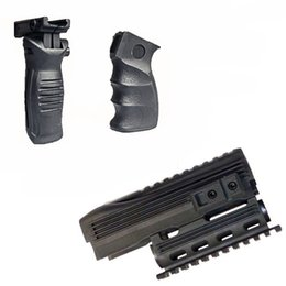 Wholesale Picatinny Rails - Tactical Stealth Black AK-47 AK74 Handguard Rifle Lightweight Polymer Quad Weaver-Picatinny Rail Mount Handguard Forend Rail System Set