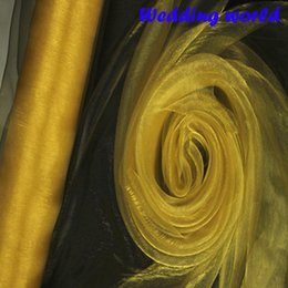 Wholesale Gold Organza Roll - Gold ORGANZA For Background Of Wedding Decoration 0.72 M x110 Meters Roll, Chair Cover Sashes Home Party Banquet