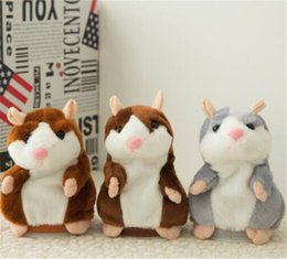 Wholesale Toy Talking Repeat Hamster - Talking Hamster Talk Sound Record Repeat Hamster Stuffed Plush Animal Kids Child Toy Talking Hamster Plush Toys Christmas Gifts