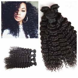 Wholesale Delivery Time - G-EASY Brazilian human hair deep wave hair weft Mongolian deep curly human hair extensions fast delivery time