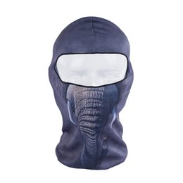 Wholesale Fast Bib - Wholesale- Elephants Breathable Fast-drying 3D Pritnting Bicycle Ski Hat Scarf Balaclava UV Protection Winter Full Face Mask free shipping